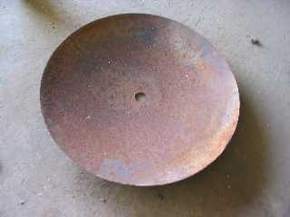 disc blade before cleaning
