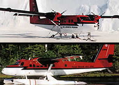 Twin Otter on wheels and skiis